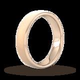 Goldsmiths 5mm Traditional Court Standard Diagonal Matt Finish Wedding Ring In 9 Carat Rose Gold