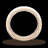 Goldsmiths 5mm Traditional Court Standard Diagonal Matt Finish Wedding Ring In 18 Carat Rose Gold