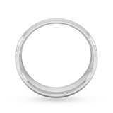 Goldsmiths 6mm Traditional Court Standard Matt Finished Wedding Ring In Platinum