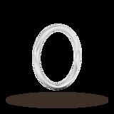 Goldsmiths 2mm Traditional Court Heavy Wedding Ring In 950 Palladium
