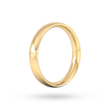 Goldsmiths 4mm Traditional Court Heavy Wedding Ring In 18 Carat Yellow Gold