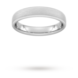 Goldsmiths 4mm Traditional Court Heavy Matt Finished Wedding Ring In Platinum