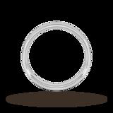 Goldsmiths 5mm Traditional Court Heavy Wedding Ring In Platinum