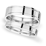 Goldsmiths 5mm Traditional Court Heavy Polished Finish With Grooves Wedding Ring In Platinum