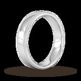 Goldsmiths 5mm Traditional Court Heavy Milgrain Edge Wedding Ring In Platinum