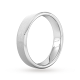 Goldsmiths 5mm Traditional Court Heavy Polished Chamfered Edges With Matt Centre Wedding Ring In Platinum