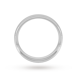 Goldsmiths 6mm Traditional Court Heavy Wedding Ring In Platinum