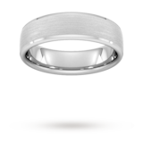 Goldsmiths 6mm Traditional Court Heavy Polished Chamfered Edges With Matt Centre Wedding Ring In Platinum