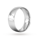 Goldsmiths 8mm Traditional Court Heavy Wedding Ring In 18 Carat White Gold