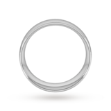 Goldsmiths 8mm Traditional Court Heavy Wedding Ring In Platinum
