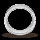 Goldsmiths 8mm Traditional Court Heavy Milgrain Edge Wedding Ring In Platinum