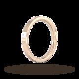 Goldsmiths 2.5mm Flat Court Heavy Wedding Ring In 9 Carat Rose Gold