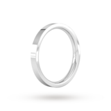 Goldsmiths 2.5mm Flat Court Heavy Wedding Ring In 950 Palladium