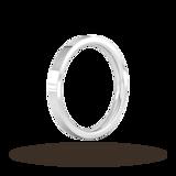 Goldsmiths 2.5mm Flat Court Heavy Wedding Ring In Platinum