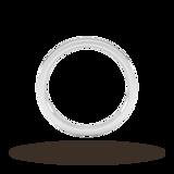 Goldsmiths 2mm Flat Court Heavy Wedding Ring In 950 Palladium