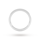 Goldsmiths 2mm Flat Court Heavy Wedding Ring In Sterling Silver