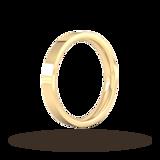 Goldsmiths 3mm Flat Court Heavy Wedding Ring In 9 Carat Yellow Gold