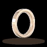 Goldsmiths 3mm Flat Court Heavy Wedding Ring In 9 Carat Rose Gold