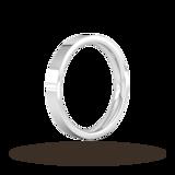 Goldsmiths 3mm Flat Court Heavy Wedding Ring In Platinum