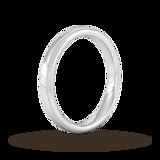 Goldsmiths 3mm Flat Court Heavy Milgrain Edge Wedding Ring In 950 Palladium