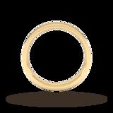 Goldsmiths 4mm Flat Court Heavy Wedding Ring In 9 Carat Yellow Gold
