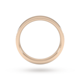 Goldsmiths 4mm Flat Court Heavy Wedding Ring In 9 Carat Rose Gold