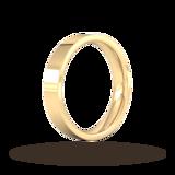 Goldsmiths 4mm Flat Court Heavy Wedding Ring In 18 Carat Yellow Gold