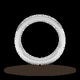 Goldsmiths 4mm Flat Court Heavy Wedding Ring In Platinum