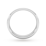 Goldsmiths 4mm Flat Court Heavy Polished Chamfered Edges With Matt Centre Wedding Ring In 950 Palladium