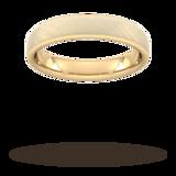 Goldsmiths 4mm Flat Court Heavy Diagonal Matt Finish Wedding Ring In 9 Carat Yellow Gold - Ring Size P
