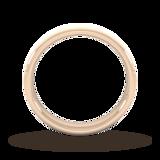 Goldsmiths 4mm Flat Court Heavy Diagonal Matt Finish Wedding Ring In 9 Carat Rose Gold