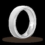 Goldsmiths 4mm Flat Court Heavy Diagonal Matt Finish Wedding Ring In 950 Palladium