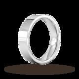 Goldsmiths 5mm Flat Court Heavy Wedding Ring In 9 Carat White Gold