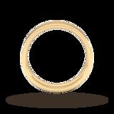 Goldsmiths 5mm Flat Court Heavy Wedding Ring In 18 Carat Yellow Gold