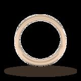 Goldsmiths 5mm Flat Court Heavy Wedding Ring In 18 Carat Rose Gold