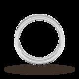 Goldsmiths 5mm Flat Court Heavy Wedding Ring In Platinum