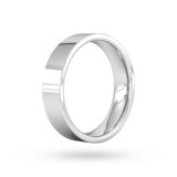 Goldsmiths 5mm Flat Court Heavy Wedding Ring In Sterling Silver
