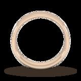 Goldsmiths 5mm Flat Court Heavy Milgrain Centre Wedding Ring In 9 Carat Rose Gold