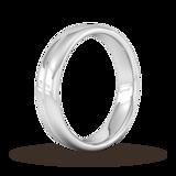 Goldsmiths 5mm Flat Court Heavy Milgrain Centre Wedding Ring In 950 Palladium
