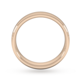 Goldsmiths 5mm Flat Court Heavy Polished Finish With Grooves Wedding Ring In 9 Carat Rose Gold