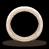 Goldsmiths 5mm Flat Court Heavy Matt Finished Wedding Ring In 9 Carat Rose Gold