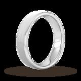 Goldsmiths 5mm Flat Court Heavy Polished Chamfered Edges With Matt Centre Wedding Ring In 950 Palladium