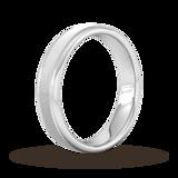 Goldsmiths 5mm Flat Court Heavy Matt Centre With Grooves Wedding Ring In Platinum