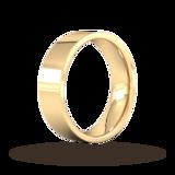 Goldsmiths 6mm Flat Court Heavy Wedding Ring In 18 Carat Yellow Gold