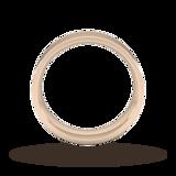 Goldsmiths 6mm Flat Court Heavy Wedding Ring In 18 Carat Rose Gold