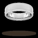 Goldsmiths 6mm Flat Court Heavy Matt Finished Wedding Ring In 9 Carat White Gold