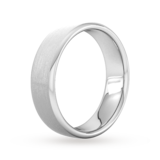 Goldsmiths 6mm Flat Court Heavy Matt Finished Wedding Ring In Platinum
