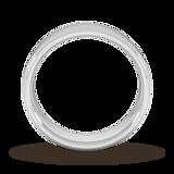 Goldsmiths 6mm Flat Court Heavy Milgrain Edge Wedding Ring In 9 Carat White Gold