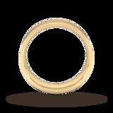 Goldsmiths 7mm Flat Court Heavy Wedding Ring In 9 Carat Yellow Gold