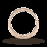Goldsmiths 7mm Flat Court Heavy Wedding Ring In 18 Carat Rose Gold